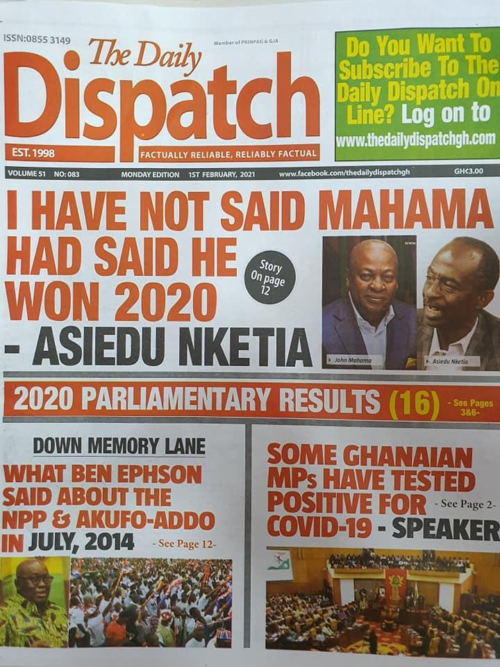 Newspaper Headlines Of Today February 1st 2021 96