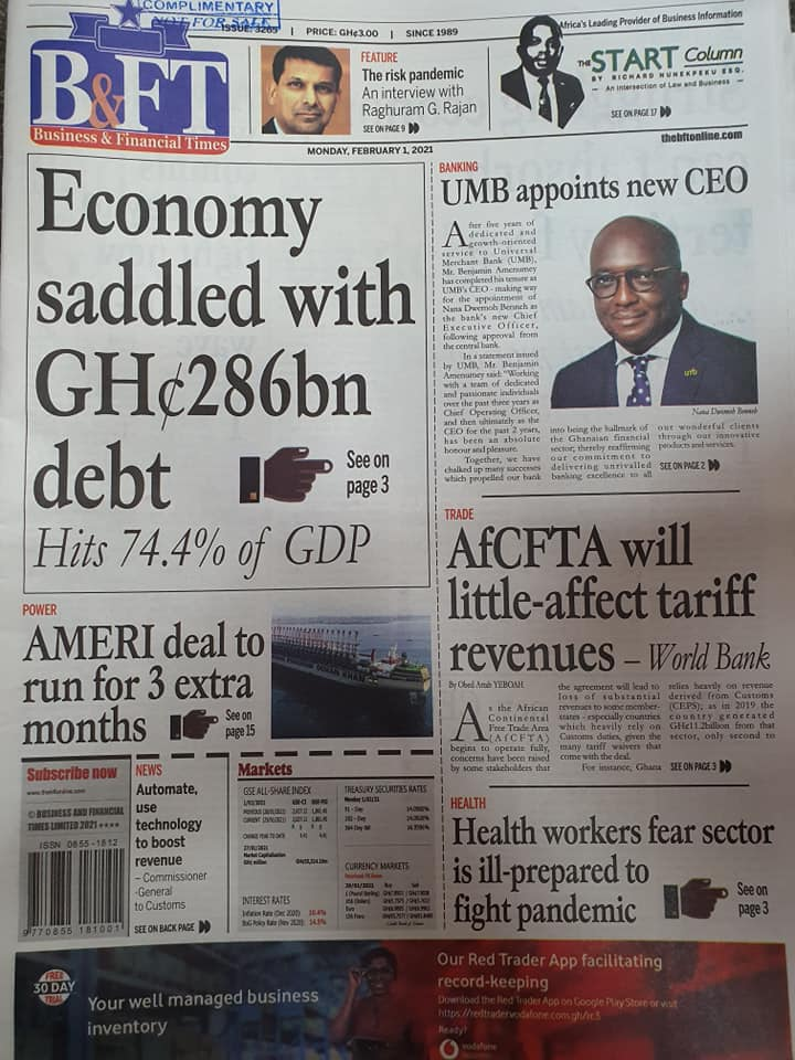 Newspaper Headlines Of Today February 1st 2021 102