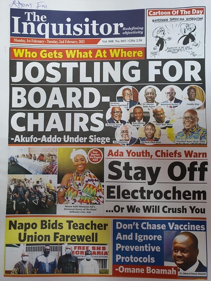 Newspaper Headlines Of Today February 1st 2021 97