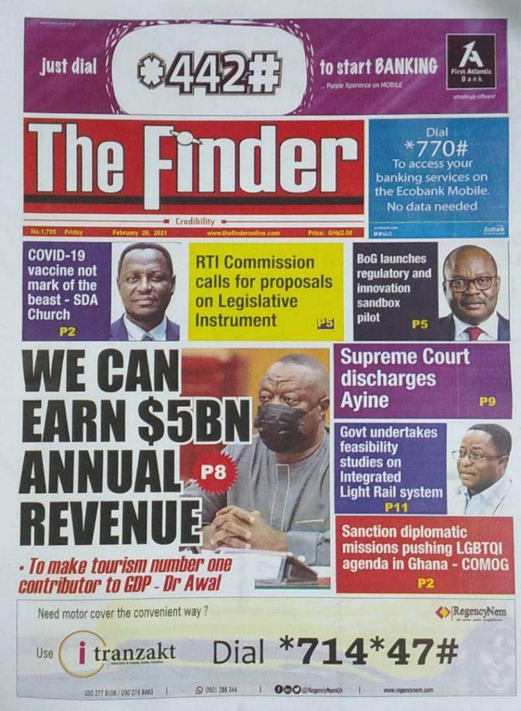 Newspaper headlines Of Friday, February 26, 2021 34