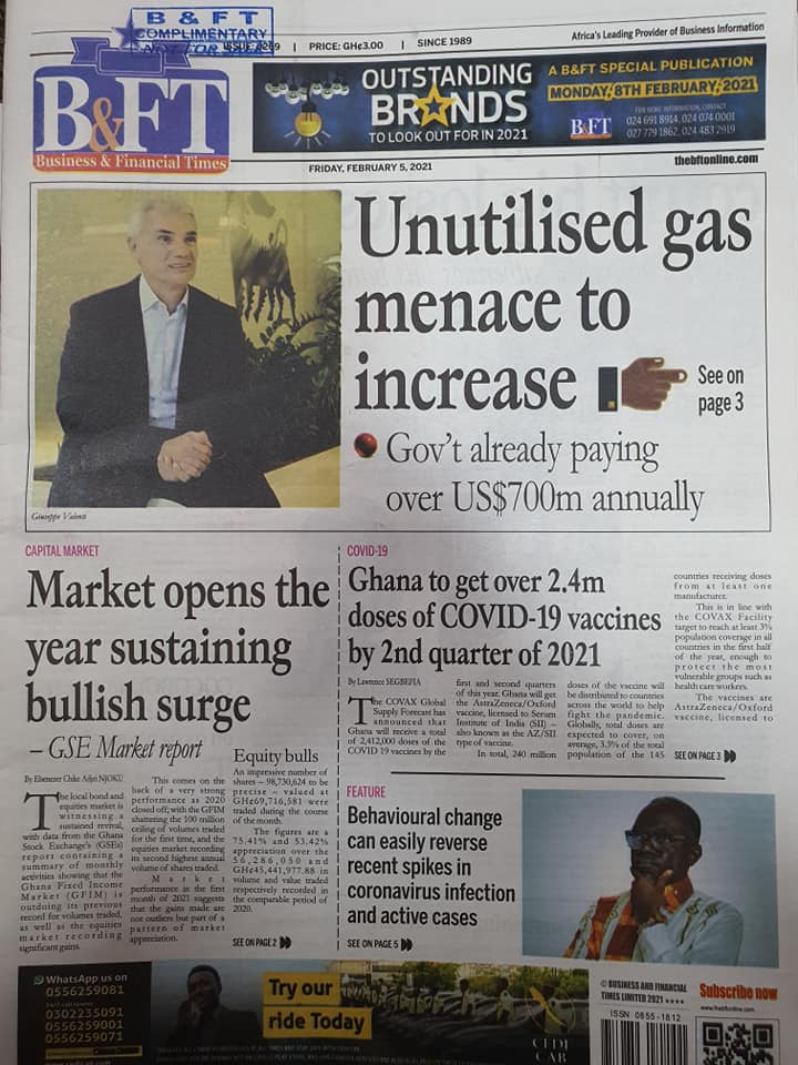 Newspaper headlines of Friday, February 5, 2021 72