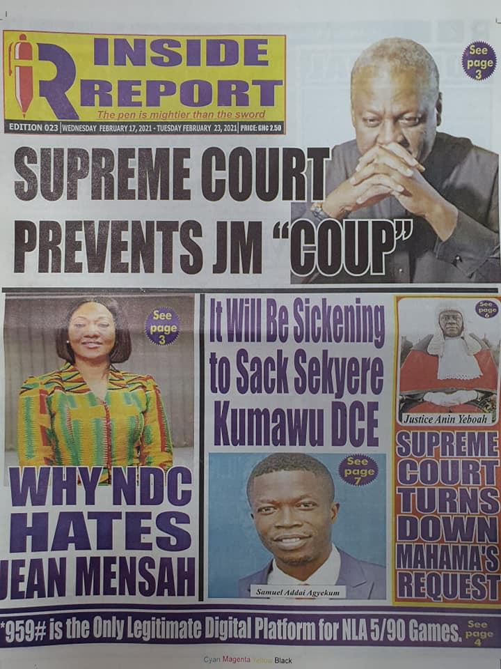 Newspaper headlines of Wednesday, February 17, 2021 88