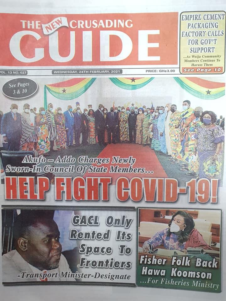 Newspaper headlines of Wednesday, February 24, 2021 91