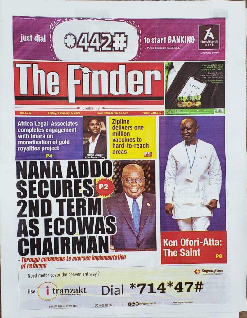 Newspaper headlines of Friday, February 5, 2021 67