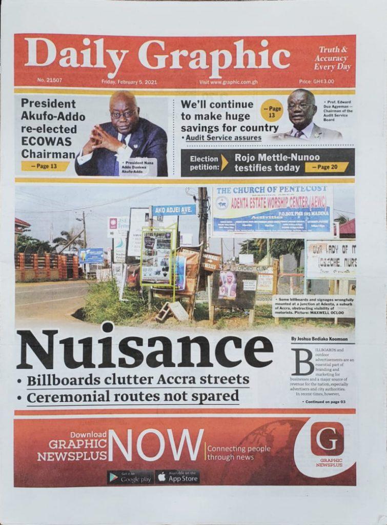 Newspaper headlines of Friday, February 5, 2021 66