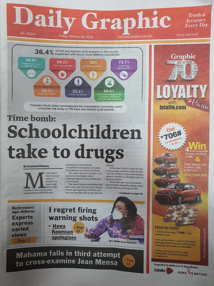 Newspaper headlines of Friday, February 19, 2021 102