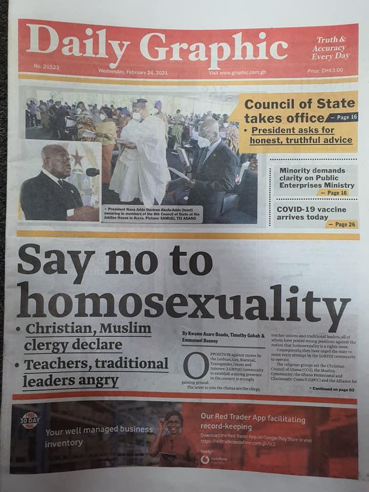 Newspaper headlines of Wednesday, February 24, 2021 98