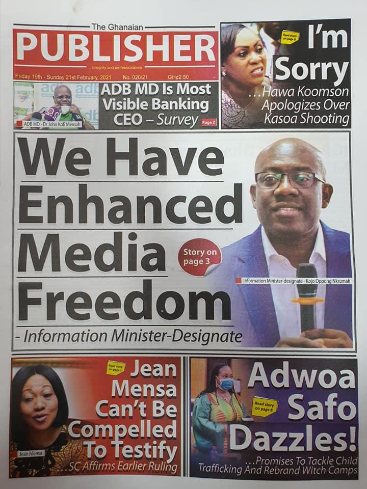 Newspaper headlines of Friday, February 19, 2021 93