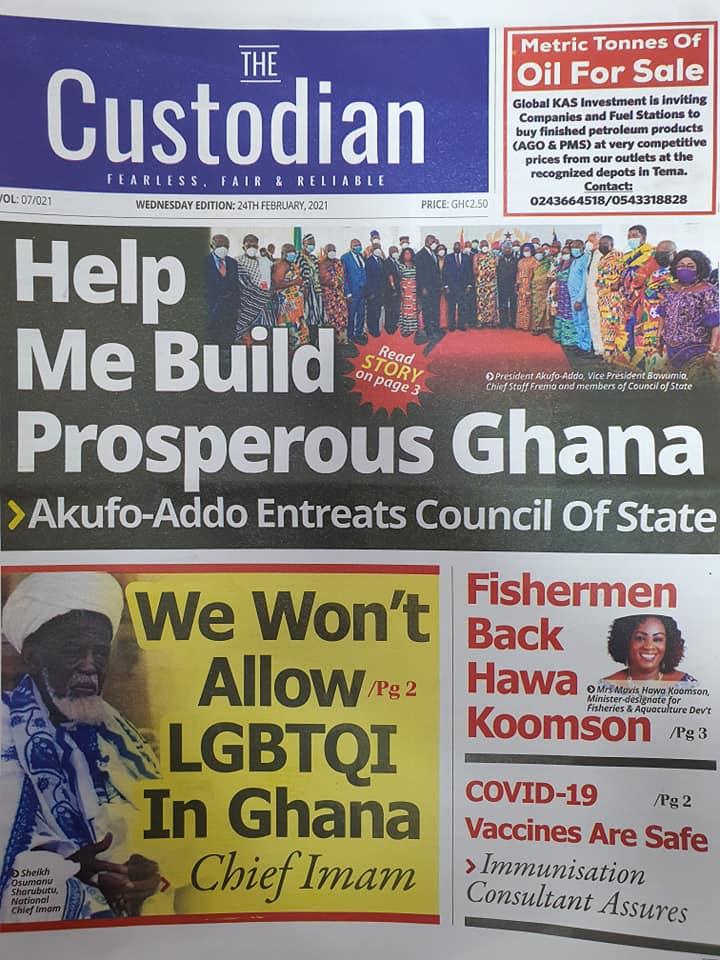 Newspaper headlines of Wednesday, February 24, 2021 104