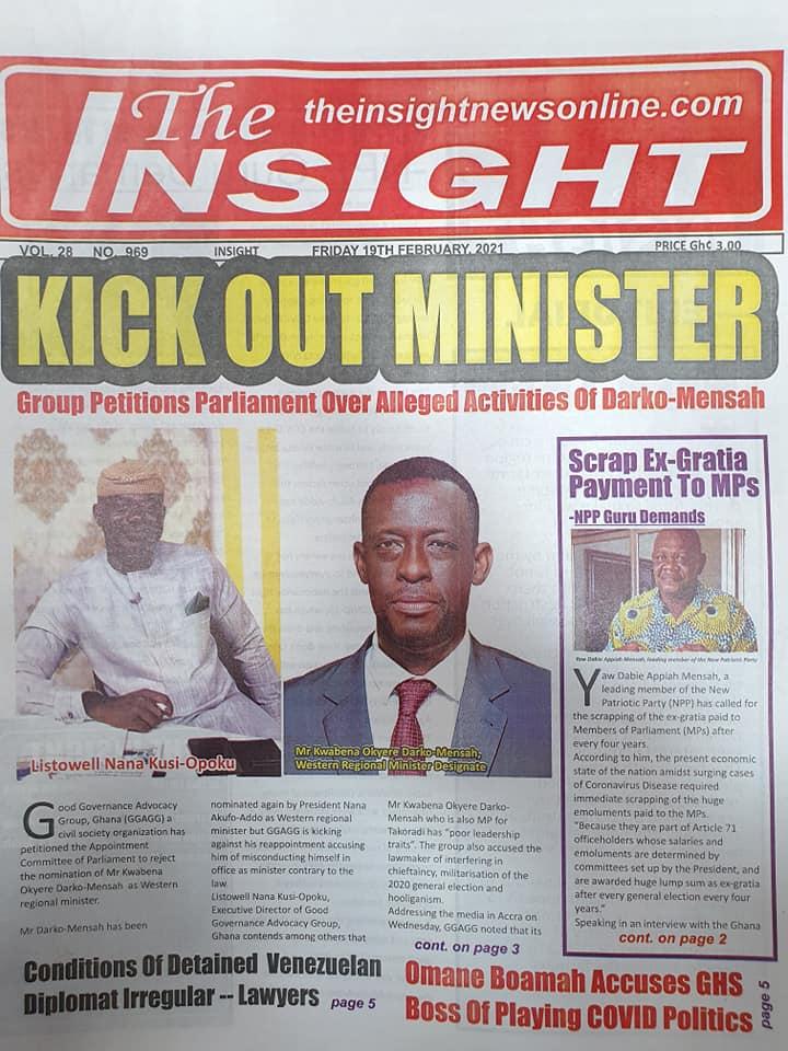 Newspaper headlines of Friday, February 19, 2021 91