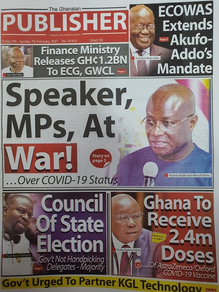 Newspaper headlines of Friday, February 5, 2021 65