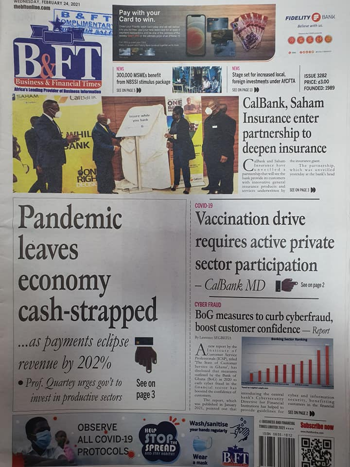 Newspaper headlines of Wednesday, February 24, 2021 88