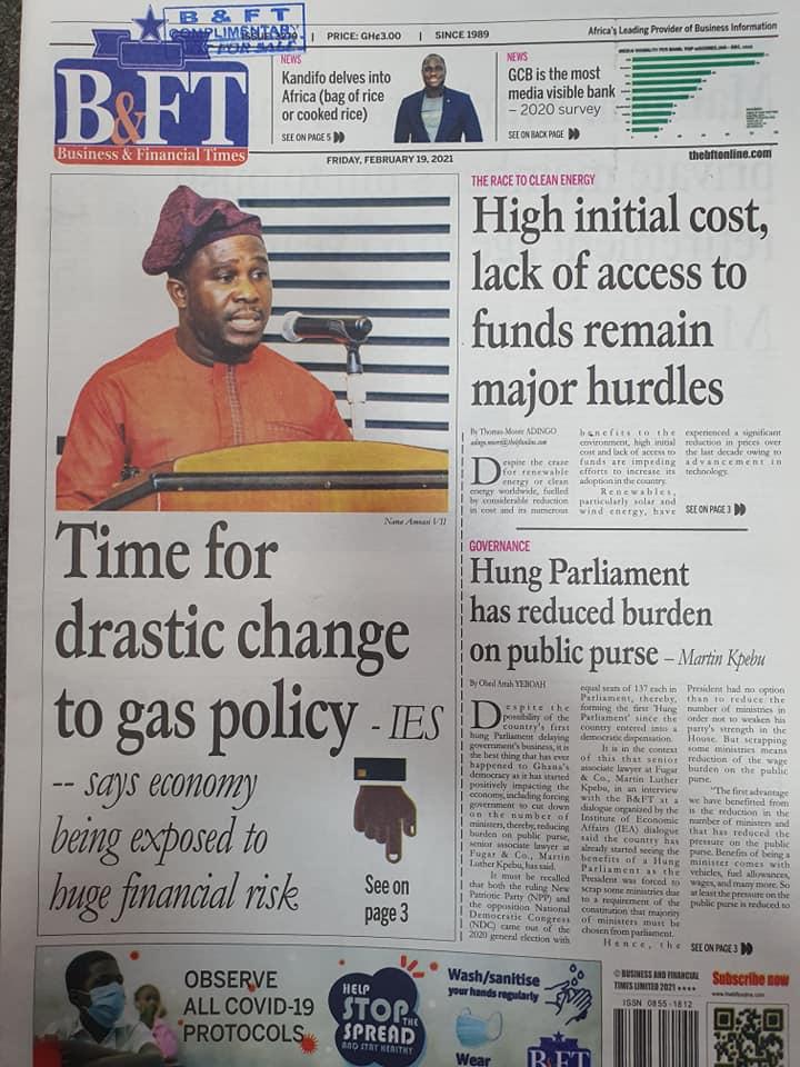 Newspaper headlines of Friday, February 19, 2021 95