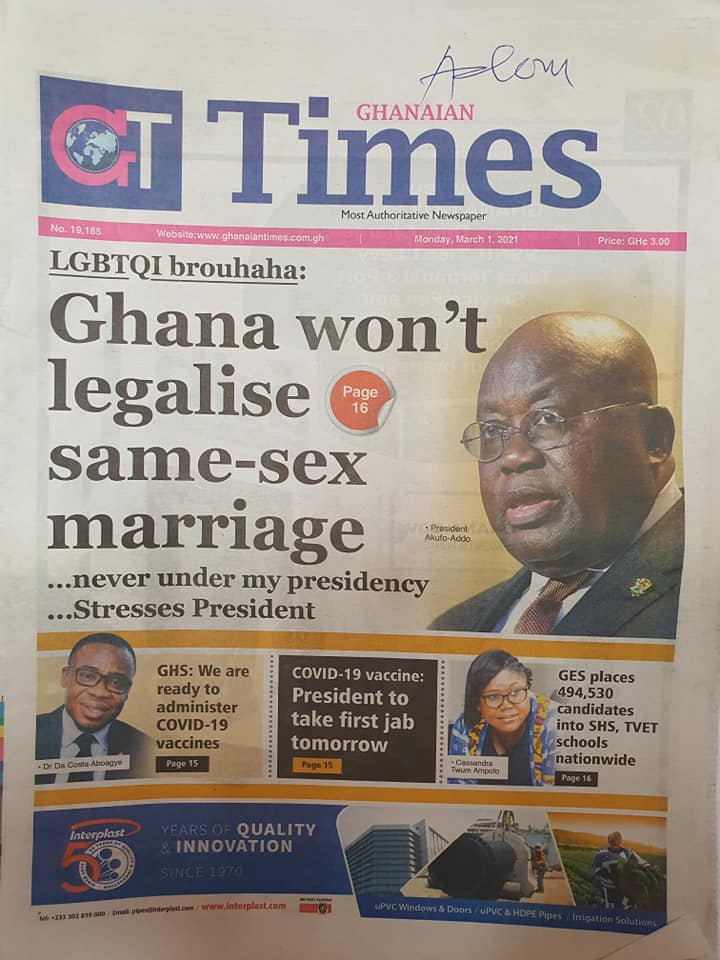 Newspaper Headlines of Monday, 1 March 2020 106