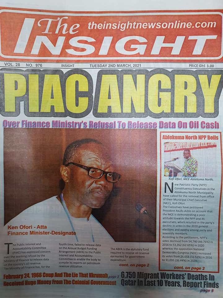Newspaper headlines of Tuesday, March 2, 2021 13