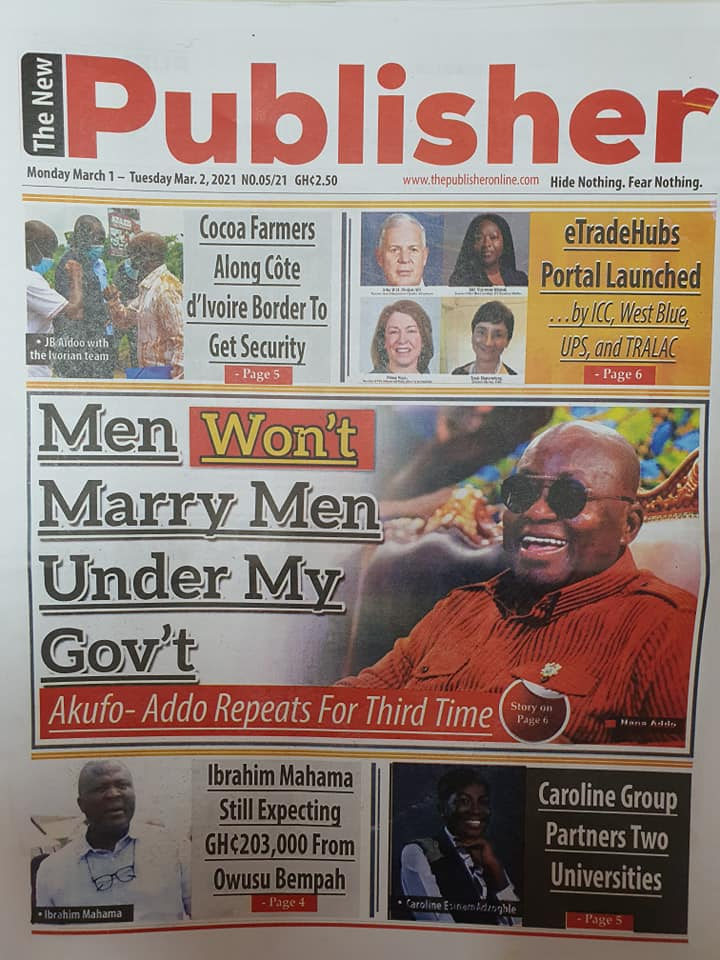 Newspaper Headlines of Monday, 1 March 2020 110