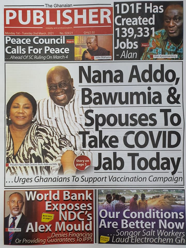 Newspaper Headlines of Monday, 1 March 2020 104