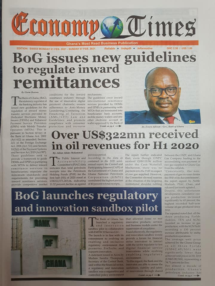 Newspaper headlines of Tuesday, March 2, 2021 11