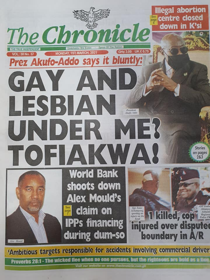Newspaper Headlines of Monday, 1 March 2020 103