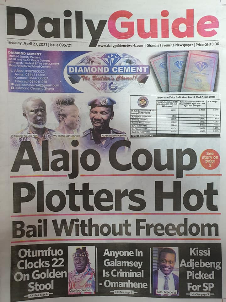 Newspaper headlines; Tuesday, May 4, 2021. 75