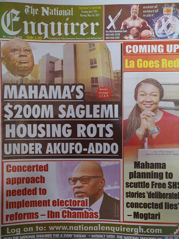 Newspaper headlines; Tuesday, May 4, 2021. 76