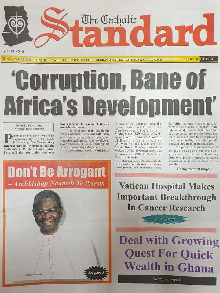 Newspaper headlines; Friday 16th April, 2021. 102