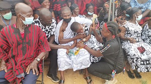 Photo of A/R: Tears flow as four Manso-Aponapon fire victims laid to rest (Video+photos)