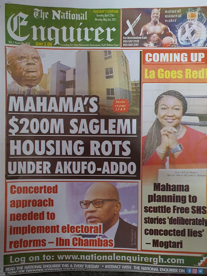 Newspaper headlines; Tuesday, May 4, 2021. 78