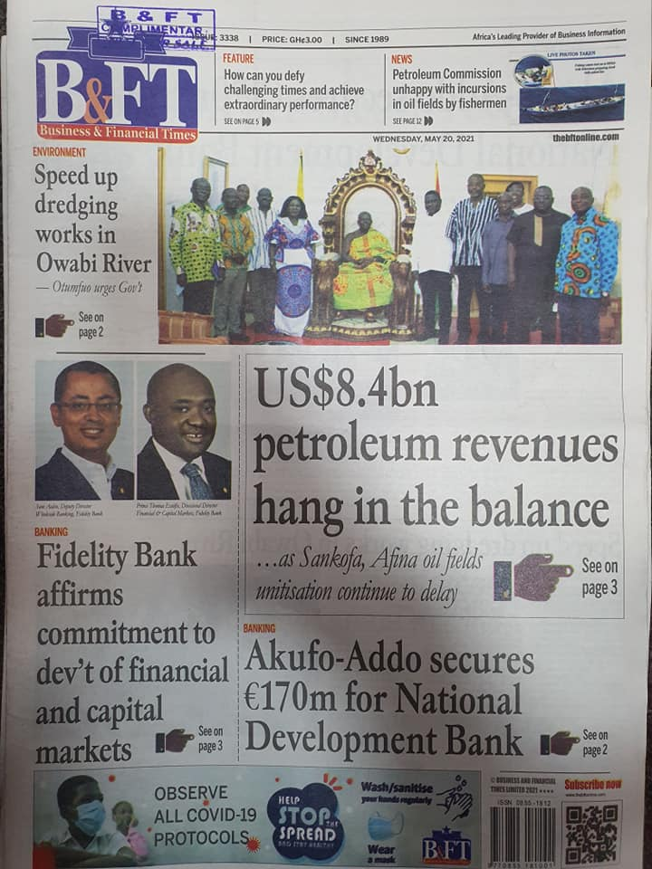 Newspaper headlines of Thursday, May 20, 2021. 120