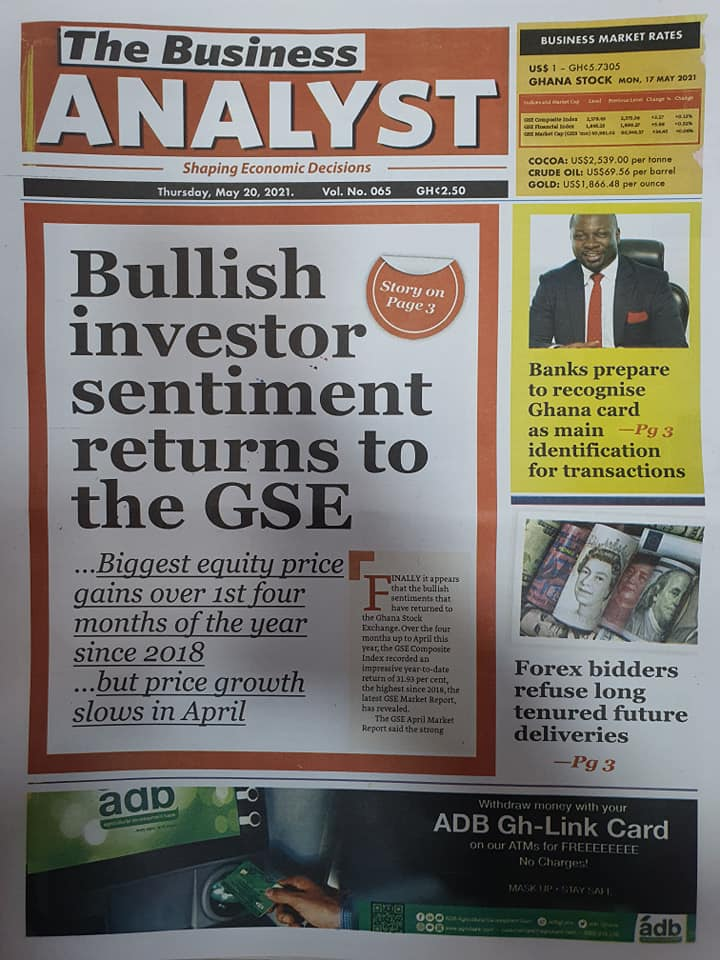Newspaper headlines of Thursday, May 20, 2021. 121