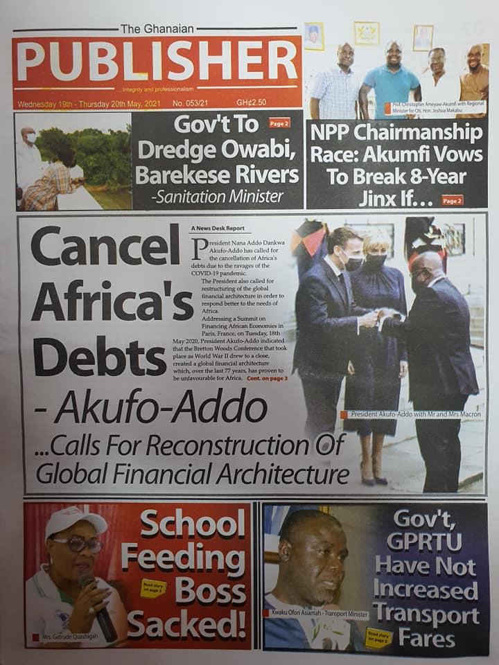 Newspaper headlines of Wednesday, May 19, 2021. 143