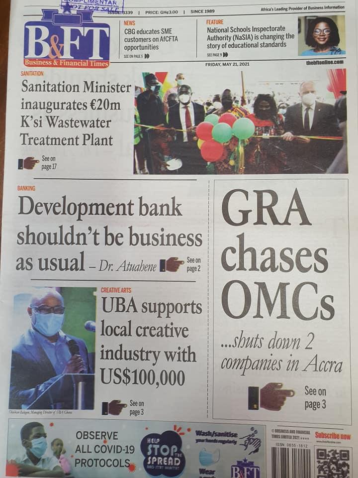 Newspaper headlines of Friday, May 21, 2021. 138
