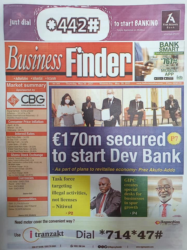 Newspaper headlines of Thursday, May 20, 2021. 118