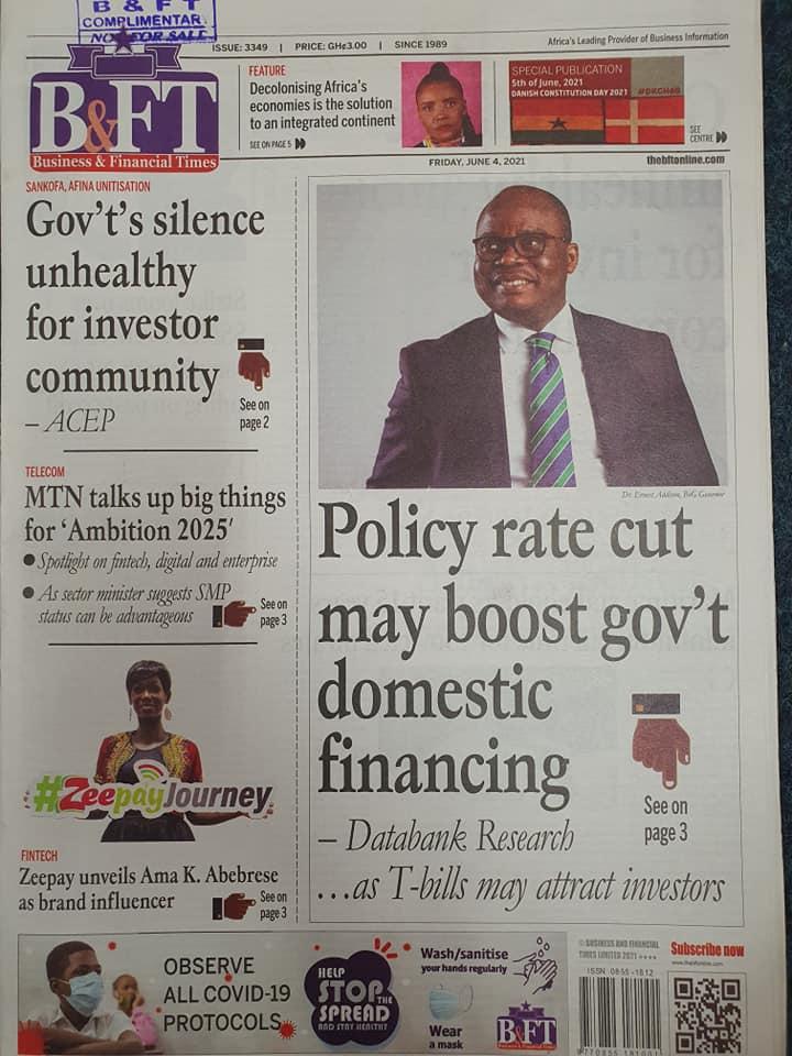 Newspaper headlines of Friday, June 4, 2021. 125