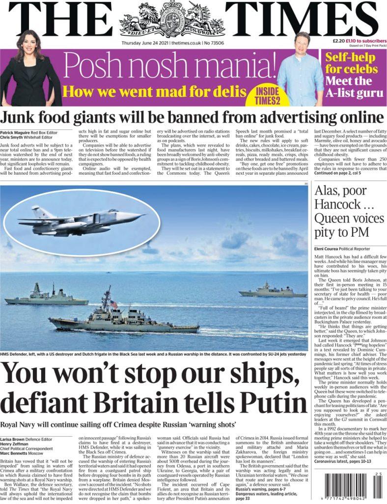 Newspaper headlines of Today, Friday June 25, 2021. 153