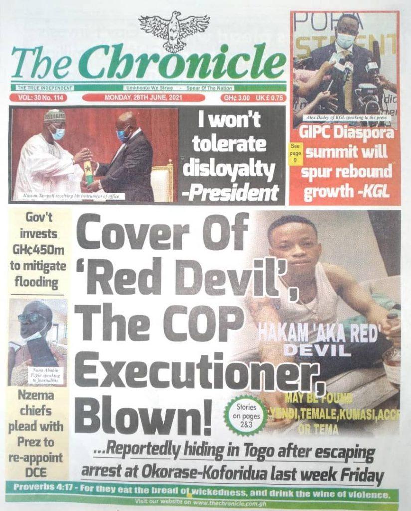 Newspaper Headlines Of Monday, June 28th, 2021. 100