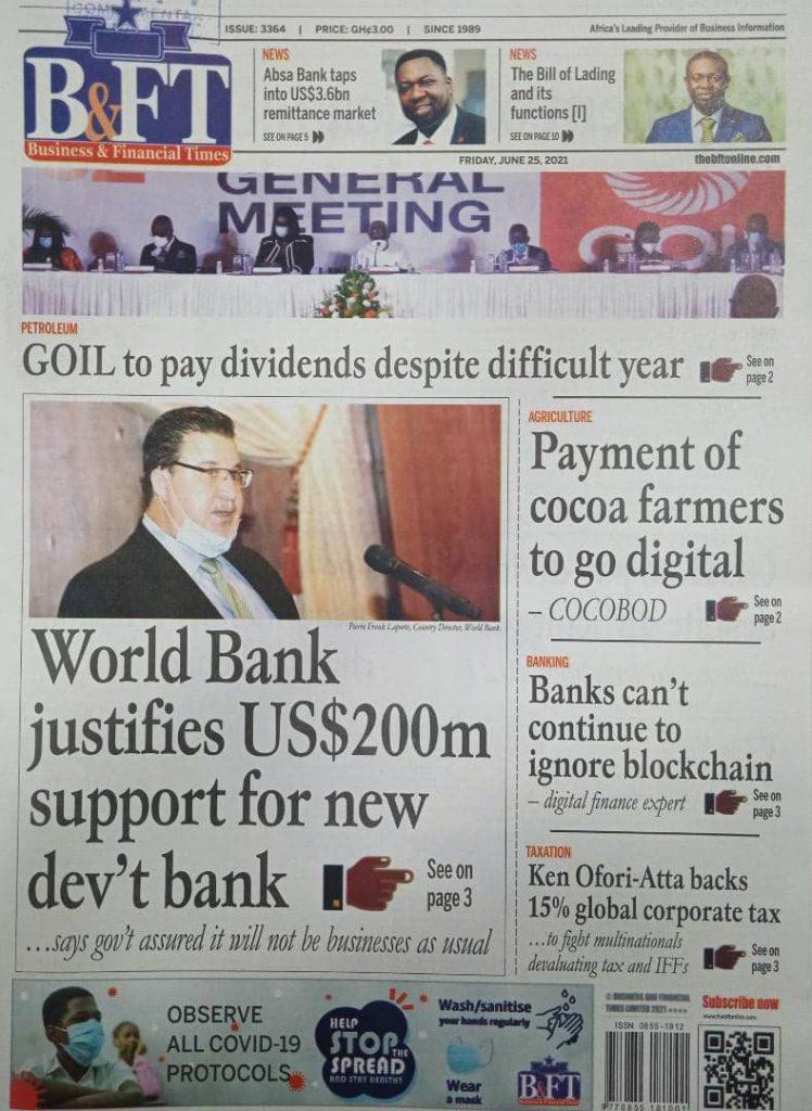 Newspaper headlines of Today, Friday June 25, 2021. 166