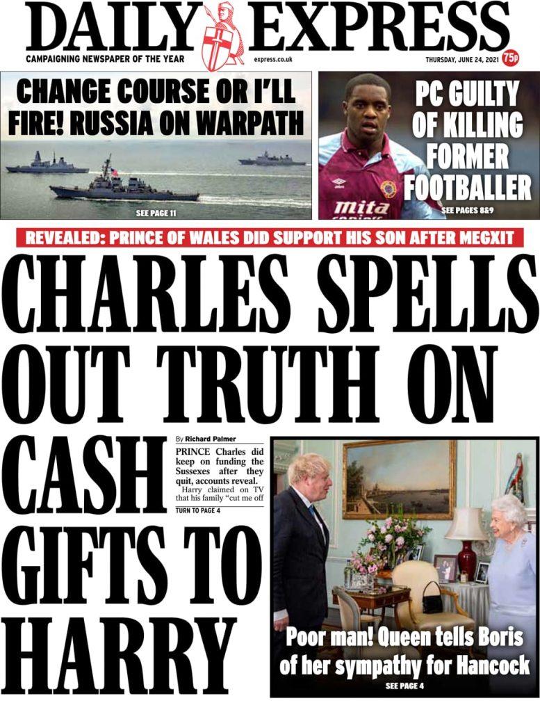 Newspaper headlines of Today, Friday June 25, 2021. 159