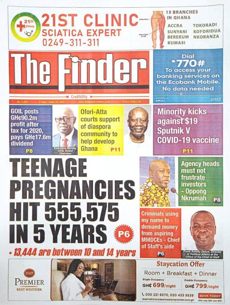 Newspaper headlines of Today, Friday June 25, 2021. 165