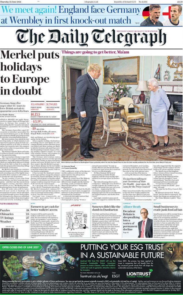 Newspaper Headlines Of Monday, June 28th, 2021. 101