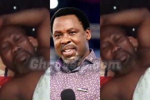 Photo of T.B Joshua's Death: Ayitey Powers weeps bitterly