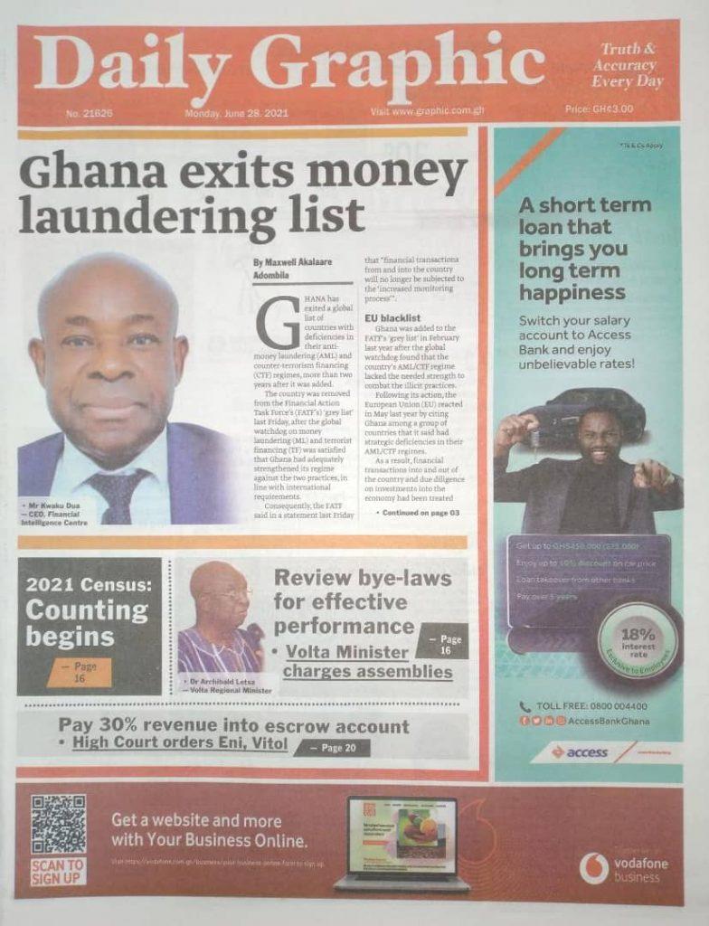 Newspaper Headlines Of Monday, June 28th, 2021. 99
