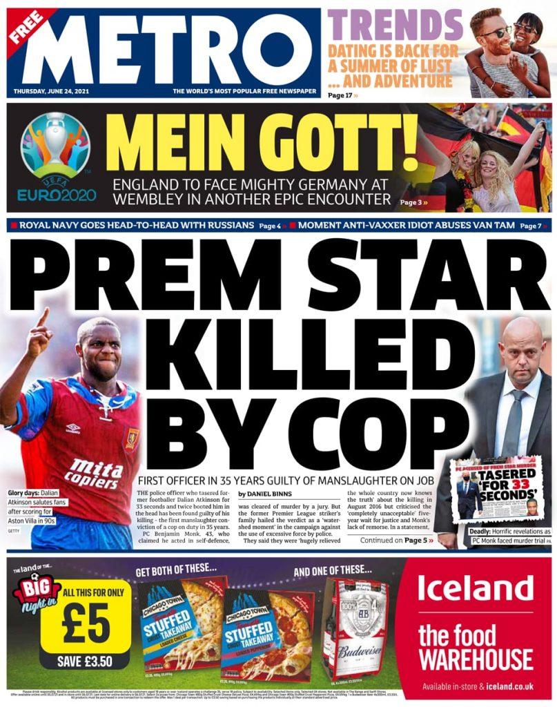 Newspaper headlines of Today, Friday June 25, 2021. 157