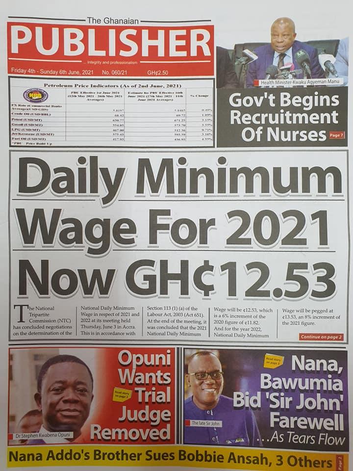 Newspaper headlines of Friday, June 4, 2021. 131