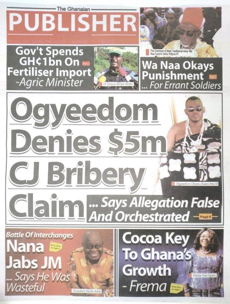 Newspaper headlines; Monday July 12 ,2021. 106