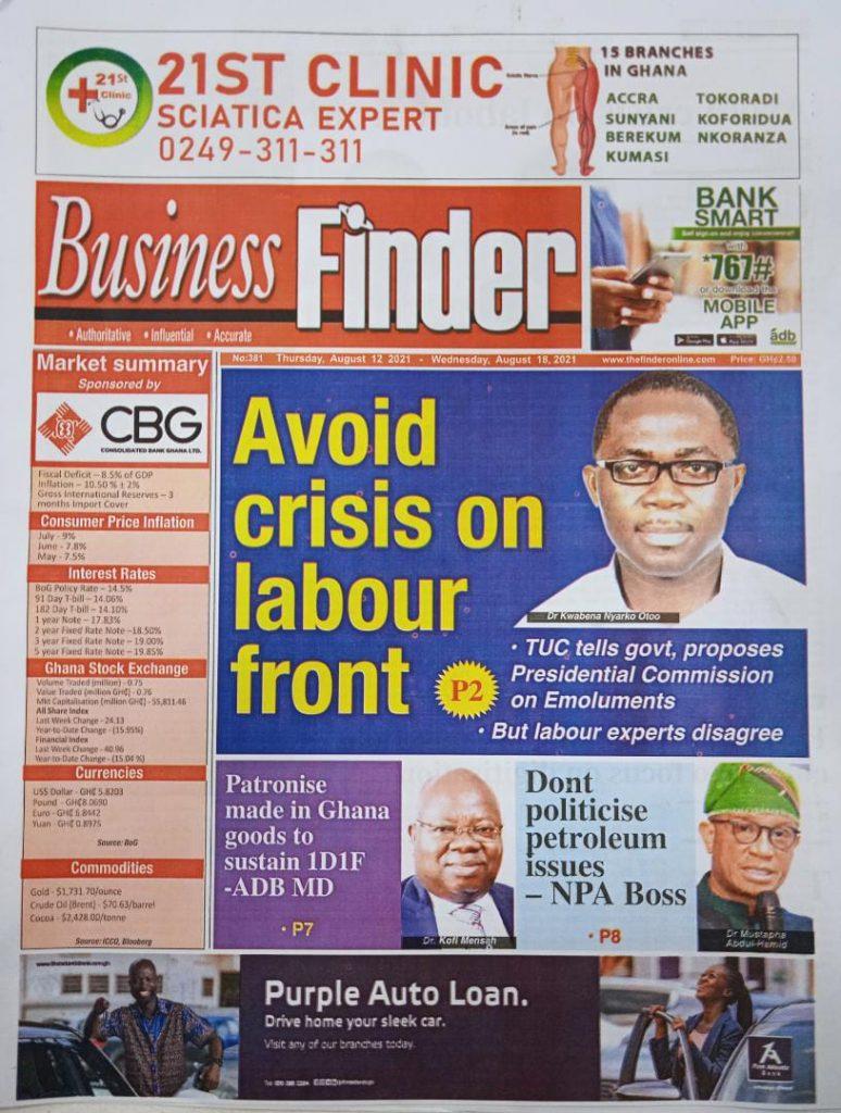 Newspaper headlines of Thursday, August 12, 2021. 92