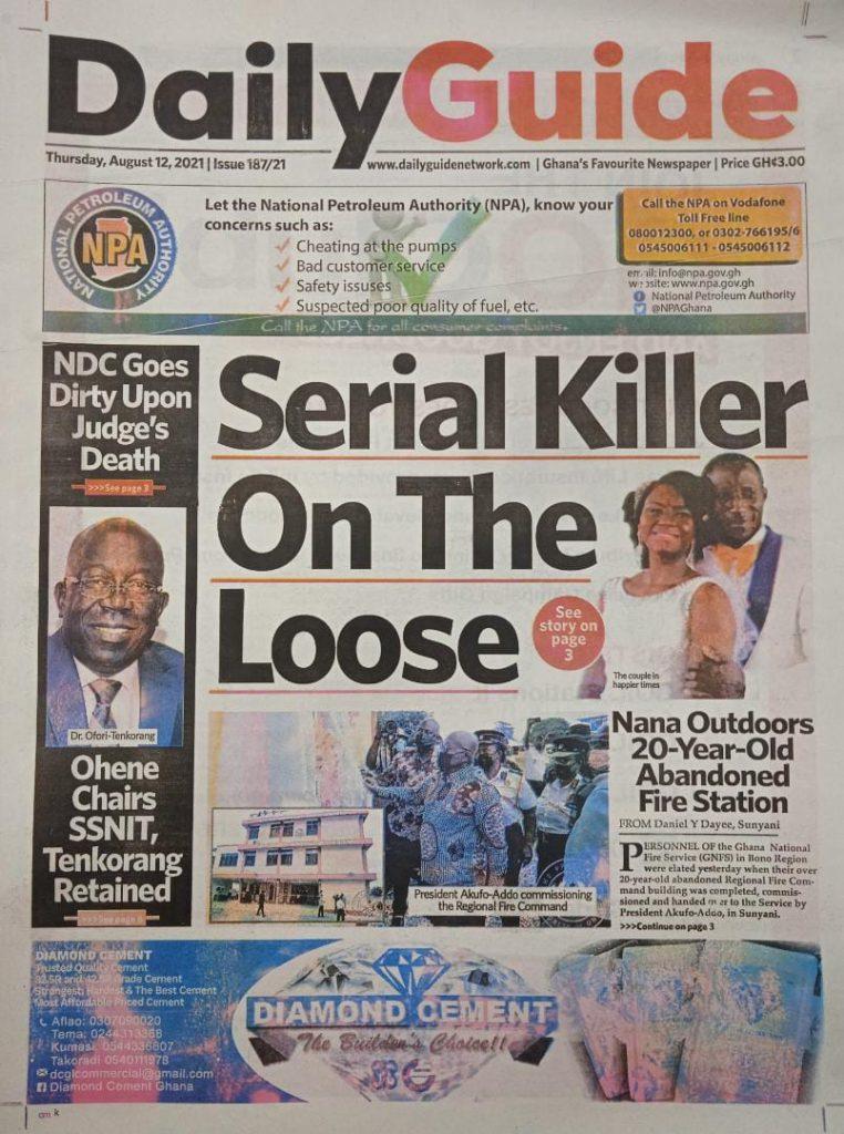 Newspaper headlines of Thursday, August 12, 2021. 90